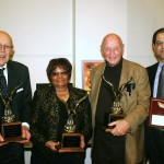 George Barrett, Rosetta Miller-Perry, Rev Bill Barnes (lifetime achievement awards) and Daoud Abudiab (Rising Advocate Award)
